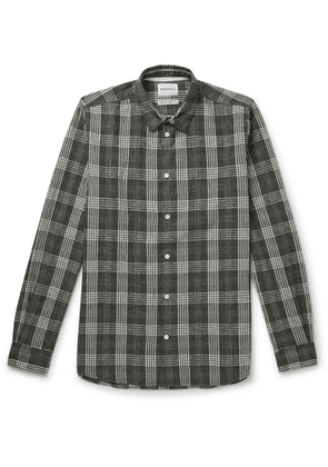 Norse Projects - Hans Checked Cotton and Linen-Blend Shirt - Men - Green