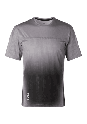 Soar Running - Hot Weather Slim-Fit Mesh and Jersey T-Shirt - Men - Gray
