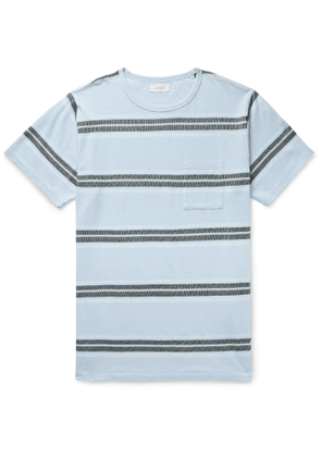 Saturdays NYC - Randall Striped Cotton T-Shirt - Men - Blue