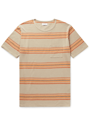 Saturdays NYC - Randall Striped Cotton T-Shirt - Men - Neutrals