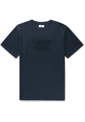 Saturdays NYC - Miller Logo-Print Cotton-Jersey T-Shirt - Men - Blue