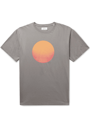 Saturdays NYC - Sunrise Printed Cotton-Jersey T-Shirt - Men - Gray