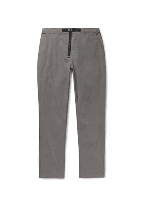 Saturdays NYC - Shaw Belted Stretch Cotton and Nylon-Blend Trousers - Men - Gray