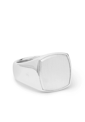 Tom Wood - Cushion Sterling Silver Ring - Men - Silver