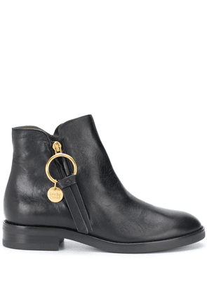 See by Chloé Louise zip-up ankle boots - Black