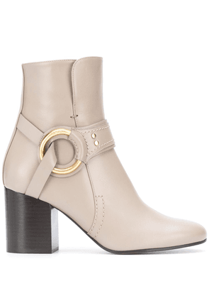 Chloé harness ankle boots - Grey