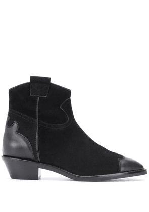 See by Chloé leather cap toe boots - Black