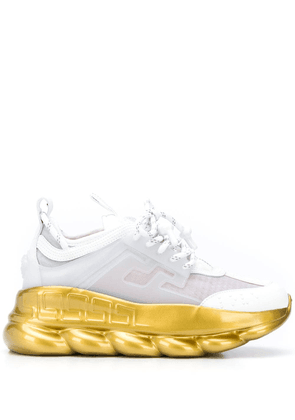 Versace Chain Reaction platform sneakers - White