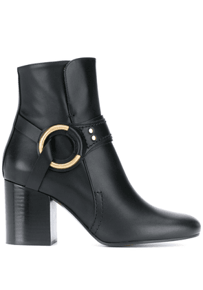 Chloé ring detail leather boots - Black
