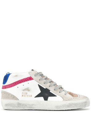 Golden Goose Mid Star leather sneakers - White