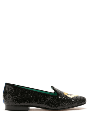 Blue Bird Shoes Spicy Love glitter loafers - 1023 - Preto