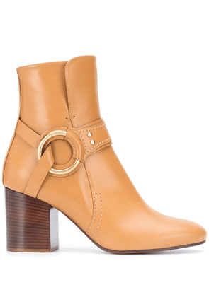 Chloé harness ankle boots - Brown