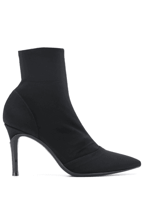 Gianvito Rossi suede-effect 100mm ankle boots - Black