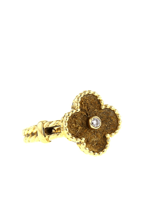Van Cleef & Arpels 1980s pre-owned yellow gold Alhambra diamond ring -