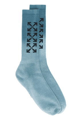 Off-White Arrow mid-length socks - Blue