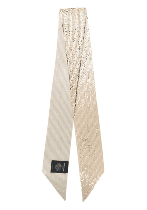 Saint Laurent chain-link gold metal neck scarf