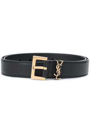 Saint Laurent logo plaque adjustable belt - Black