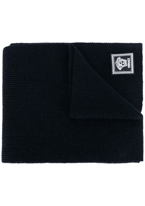 Versace ribbed knit wool scarf - Blue