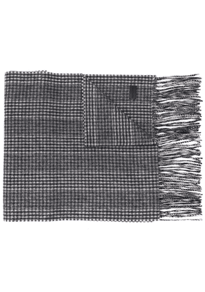 Saint Laurent houndstooth scarf - Black