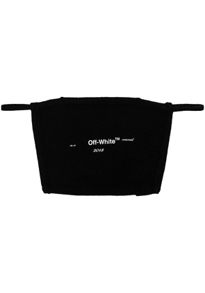 Off-White logo print face mask - Black