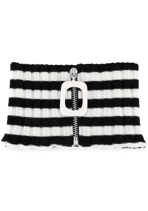 JW Anderson ribbed zip-up neckband - Black