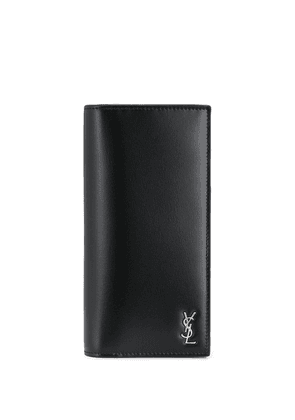 Saint Laurent logo plaque cardholder - Black
