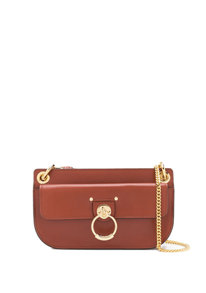 Chloé calf leather bag with gold detail - Brown