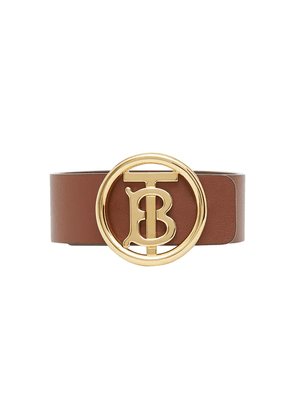 Burberry TB motif leather bracelet - Brown