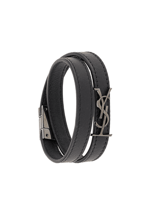 Saint Laurent Opyum double-wrap bracelet - Black