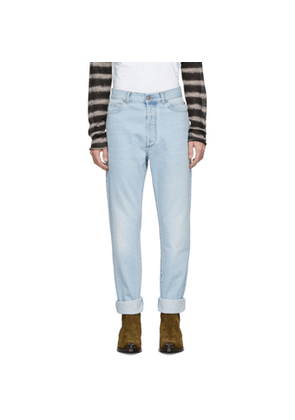 Balmain Blue High-Waisted Jeans
