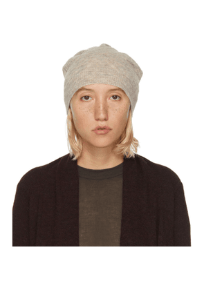 Rick Owens Grey Marled Mohair and Alpaca Medium Beanie