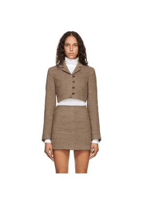 Opening Ceremony Beige Felted Cropped Blazer