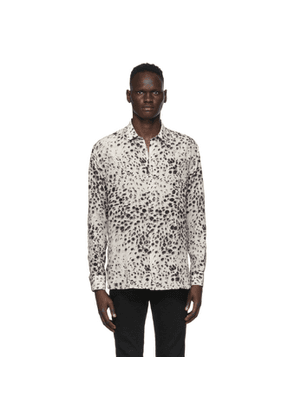 Saint Laurent Off-White and Black Spotted Shirt