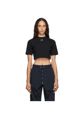 Off-White Black Cropped Off T-Shirt