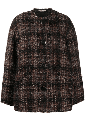 Dolce & Gabbana boucle tweed jacket - Brown