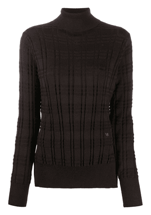 Victoria Beckham roll neck long-sleeved jumper - Brown