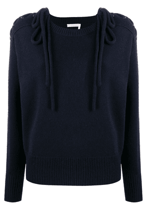 See by Chloé laced-shoulder sweater - Blue