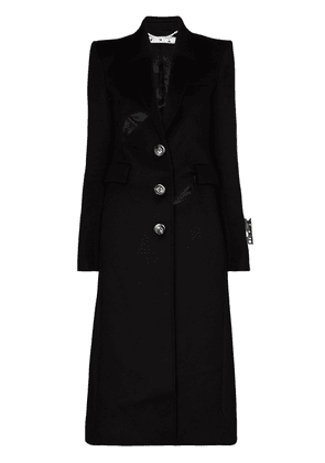 Off-White cut-out tailored single-breasted coat - Black