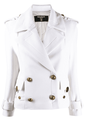 Balmain double-breasted jacket - White