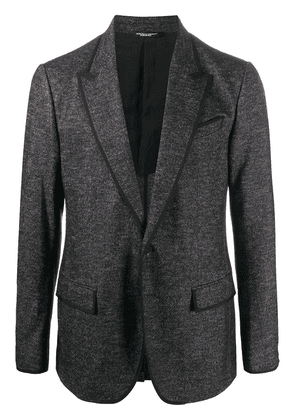 Dolce & Gabbana woven single-breasted blazer - Grey