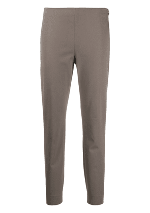 Theory stretch cotton slim-fit trousers - Brown