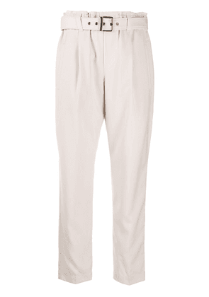 Brunello Cucinelli belted cropped trousers - Neutrals