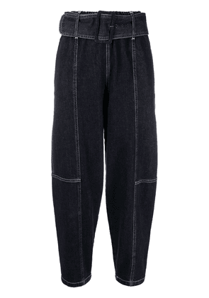 See by Chloé high-waisted cropped jeans - Blue