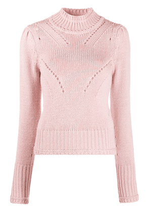 Dondup perforated high-neck jumper - PINK