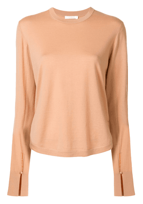 Chloé cut-out detail knitted top - PINK