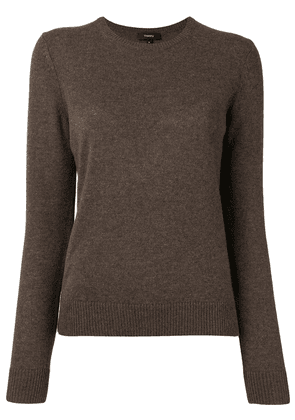 Theory long-sleeved slim fit cashmere sweater - Brown