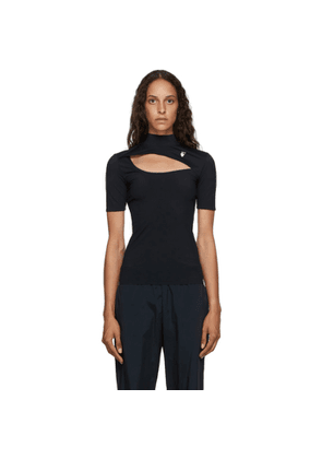 Off-White Black Athleisure Cut-Out T-Shirt