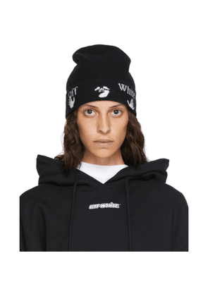 Off-White Black Wool New Logo Beanie
