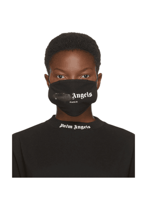 Palm Angels Black and White Spray Logo Mask