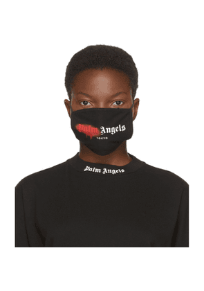 Palm Angels Black and Red Spray Logo Mask